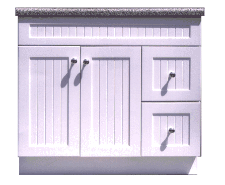 English Beaded Cottage Style Vanities - Privy Pine Products